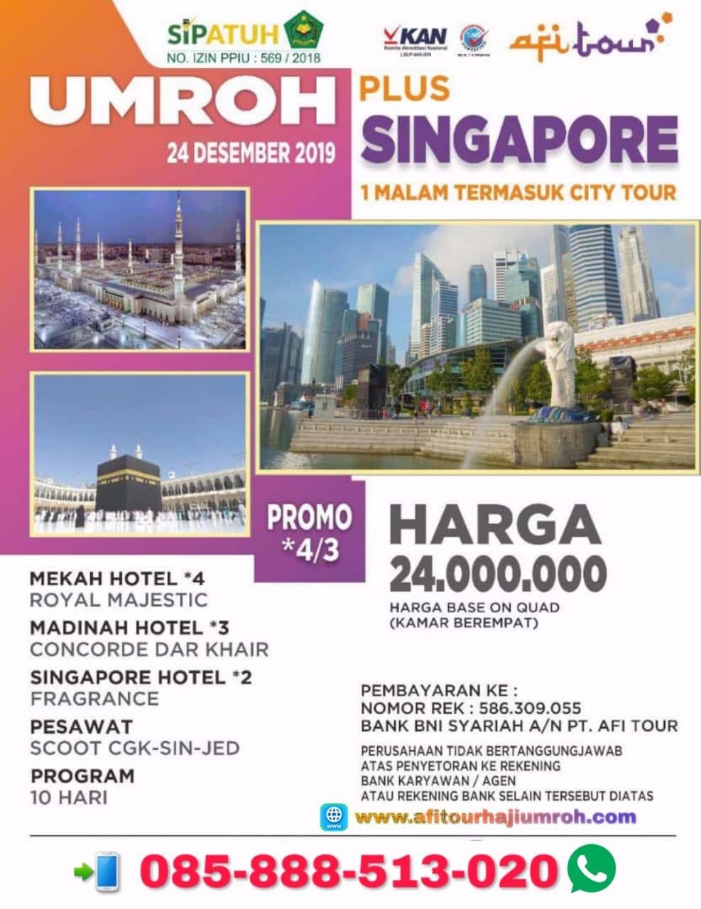 Umroh Singapore Terbaru